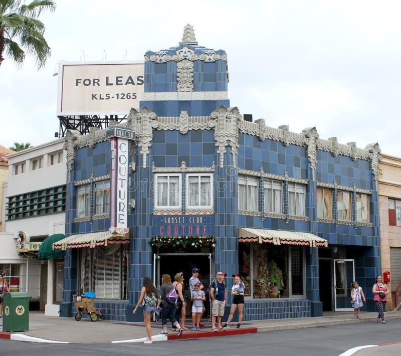 Alta-costuras do clube do por do sol, estúdios de Hollywood, Orlando, FL fotografia de stock