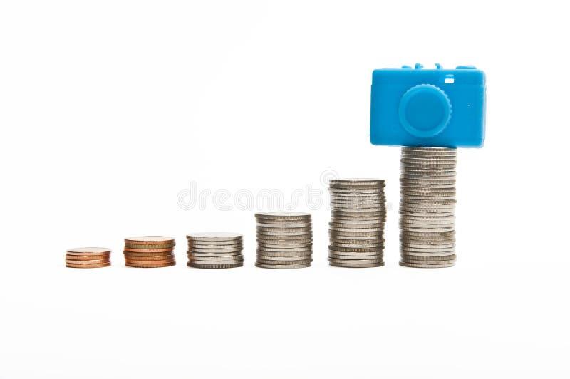 Alta demanda na câmera compacta no mercado fotos de stock
