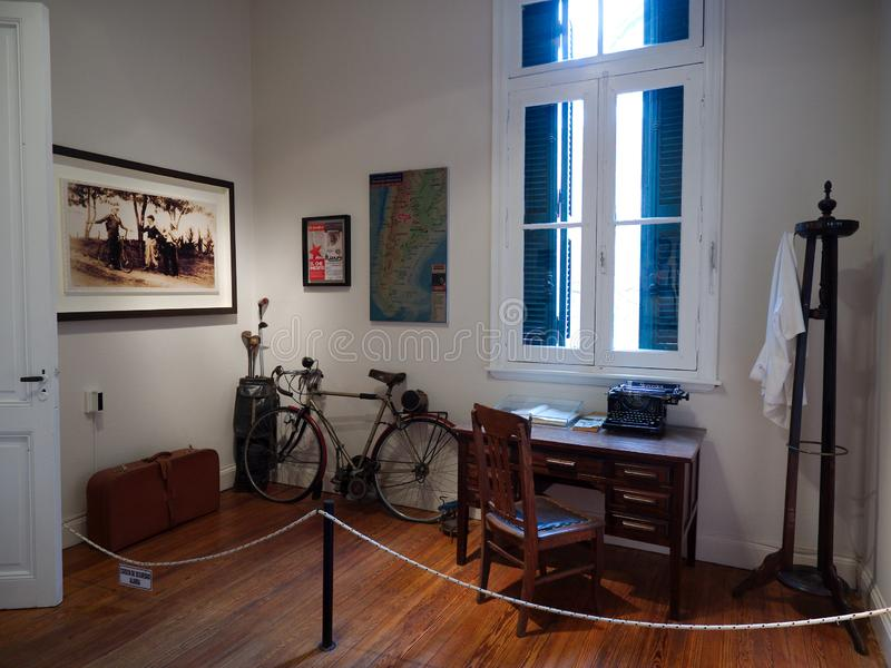 Che Guevara museum. Alta Gracia, Cordoba, Argentina - 2017: Interior of the Che Guevara museum royalty free stock photo