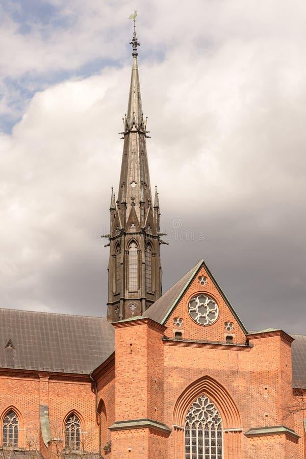 Alta guglia della cattedrale fotografia stock libera da diritti