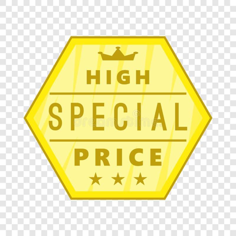 Alta icona dell'etichetta di prezzi speciali, stile del fumetto royalty illustrazione gratis