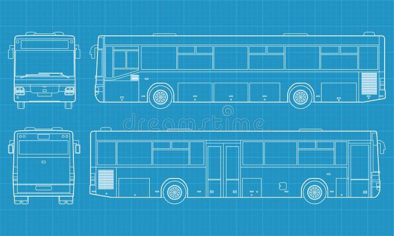 Alta illustrazione dettagliata del bus illustrazione vettoriale