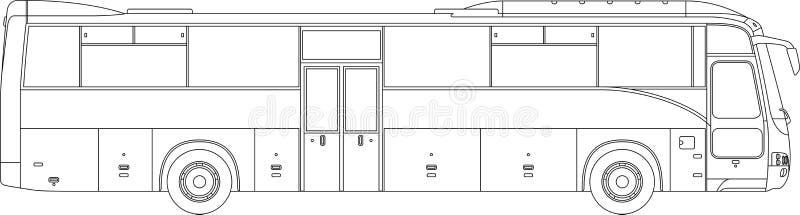 Alta illustrazione dettagliata del bus royalty illustrazione gratis