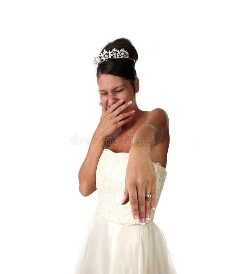 Alta imagen del DOF de una novia fotos de archivo libres de regalías