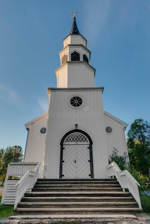 Alta Inspirujący gothic kościół w Alta, Norwegia fotografia stock