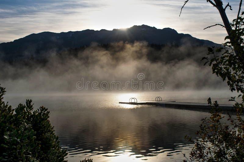 Alta Lake Whistler. Alta Lake sunrise in Whistler royalty free stock images