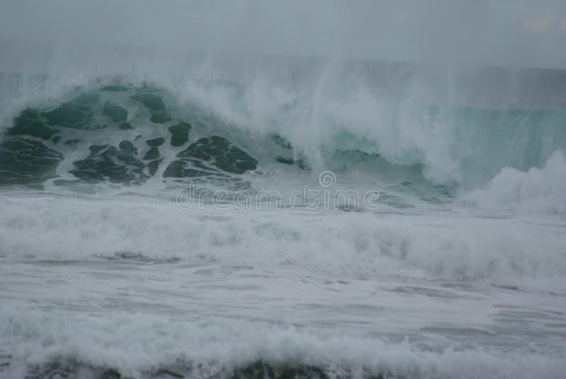 Alta marea en los mares duros foto de archivo libre de regalías