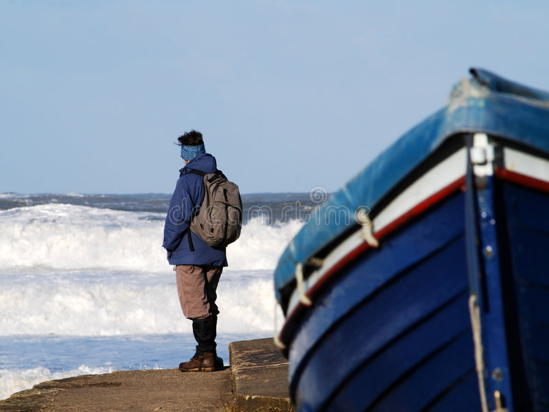 Alta marea a Sandsend immagini stock