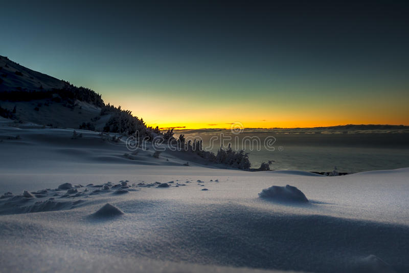 Alta nieve del país foto de archivo libre de regalías