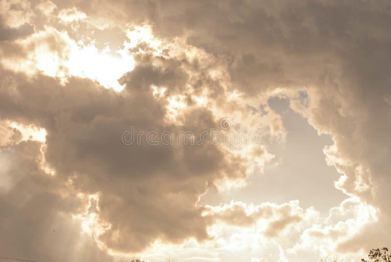 Alta nube fotografia stock