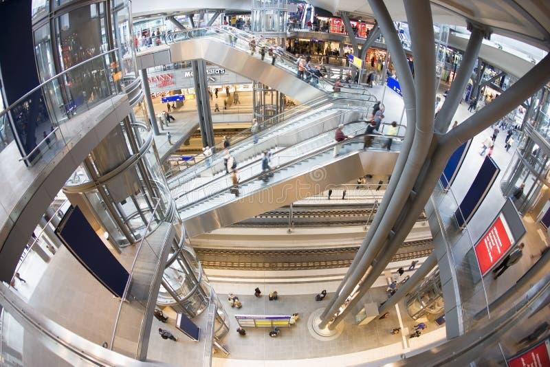 Alta opinión Berlin Central Railway Station foto de archivo