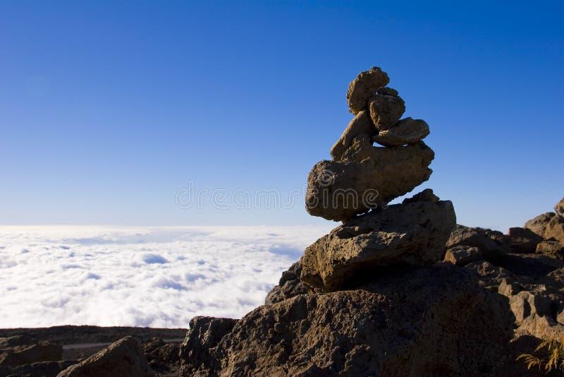 Alta pila de la roca foto de archivo libre de regalías