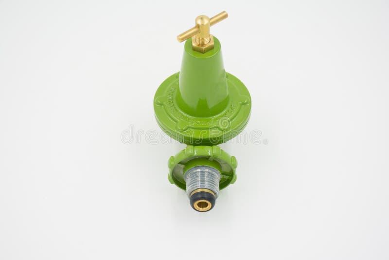 Alta presión del regulador de la válvula de gas fotografía de archivo