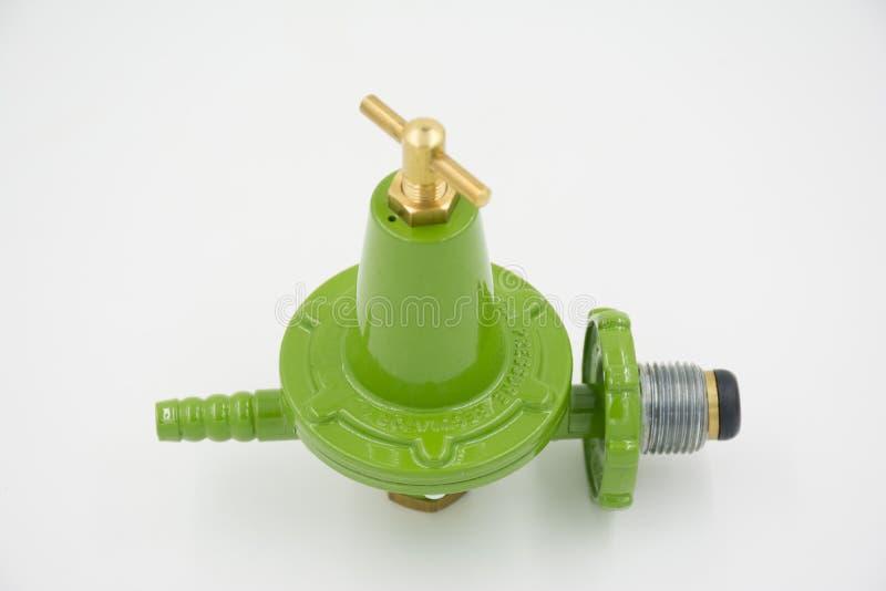 Alta presión del regulador de la válvula de gas imagen de archivo