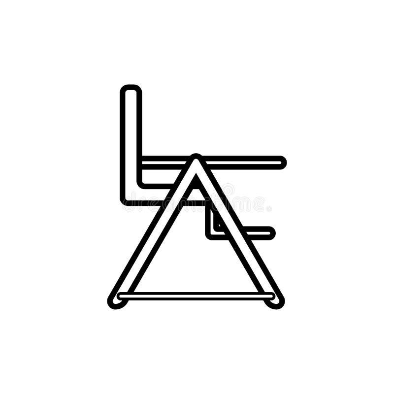 Alta presidenza Icona su un fondo bianco, linea progettazione del bambino illustrazione di stock