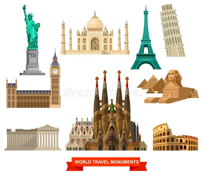 Alta qualità, punti di riferimento dettagliati del mondo royalty illustrazione gratis