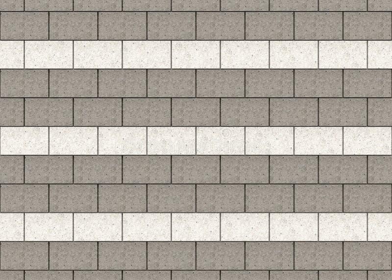 A alta resolução do cimento cinzento e branco obstrui o fundo da parede ilustração stock