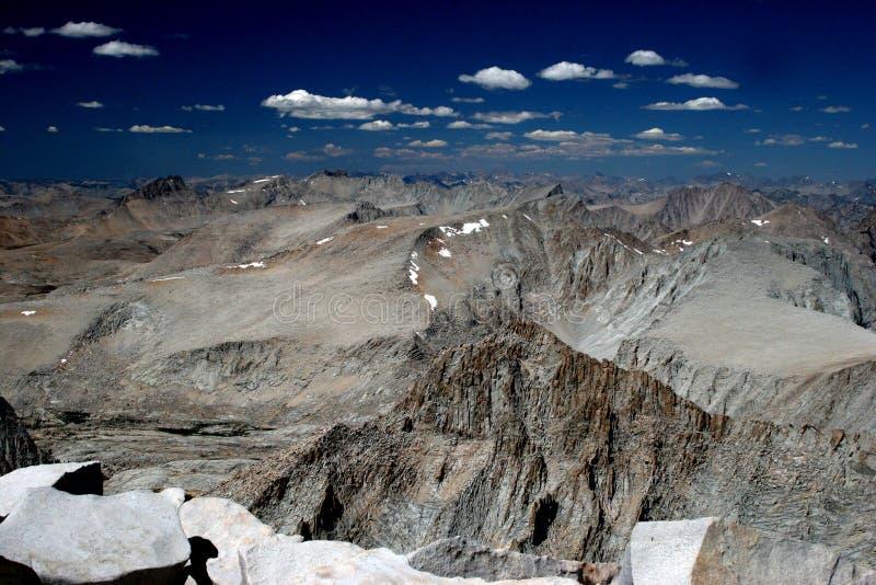 Alta sierra de la cumbre del Mt Whitney fotografía de archivo