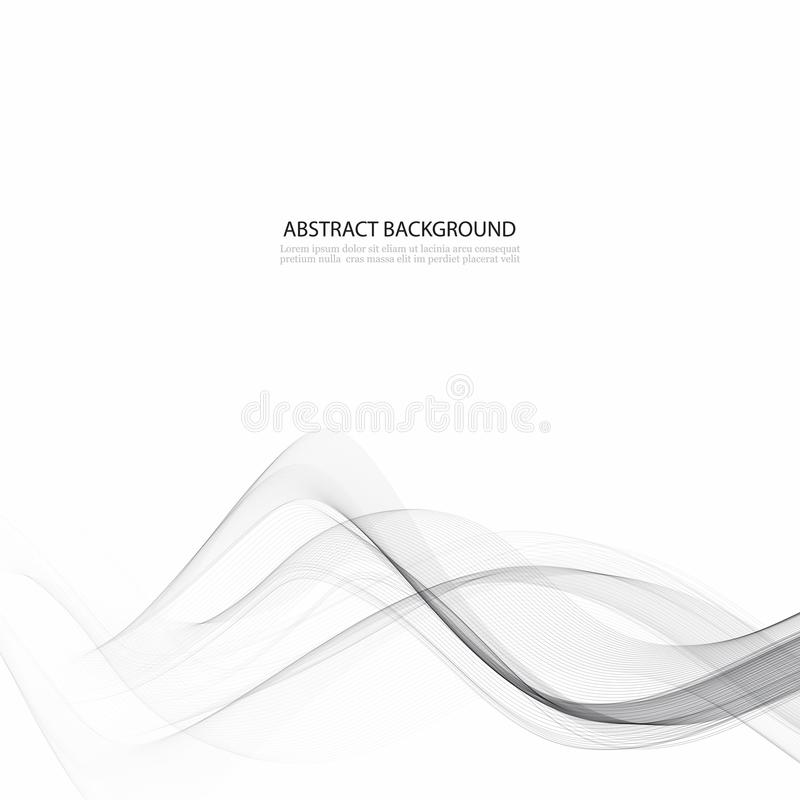 Alta tecnologia elegante mormora il fondo della corrente dell'onda modello molle grafico moderno grigio regolare astratto della c illustrazione vettoriale