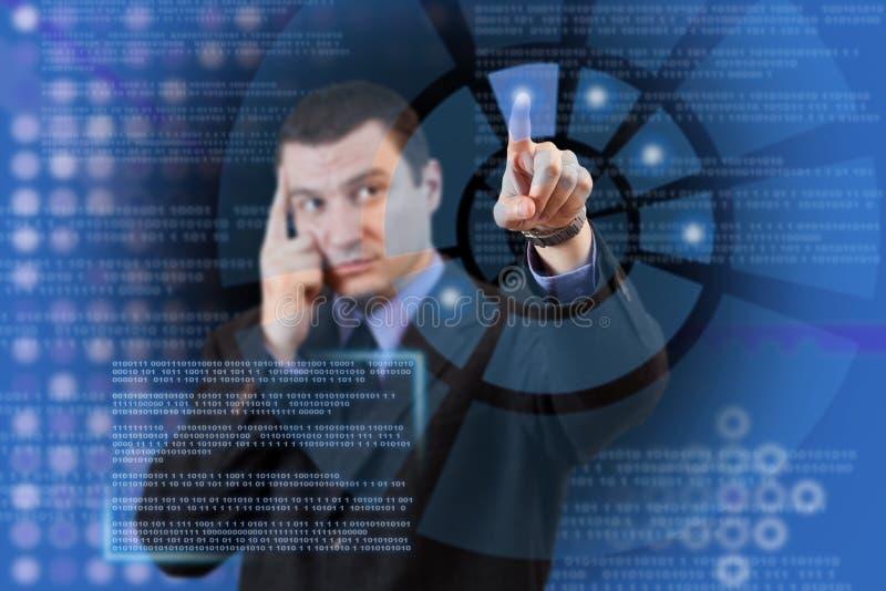 Alta tecnologia virtual imagem de stock royalty free