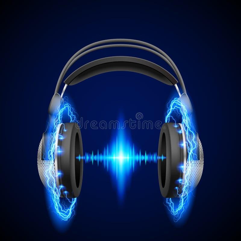 Alta tensão da música ilustração do vetor