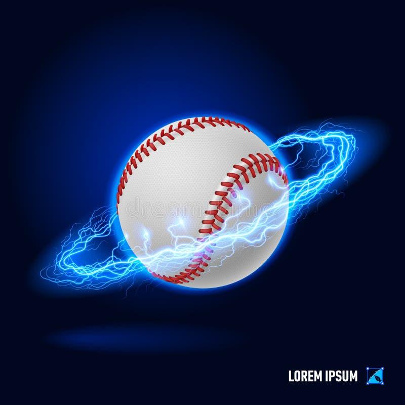 Alta tensão do basebol ilustração stock