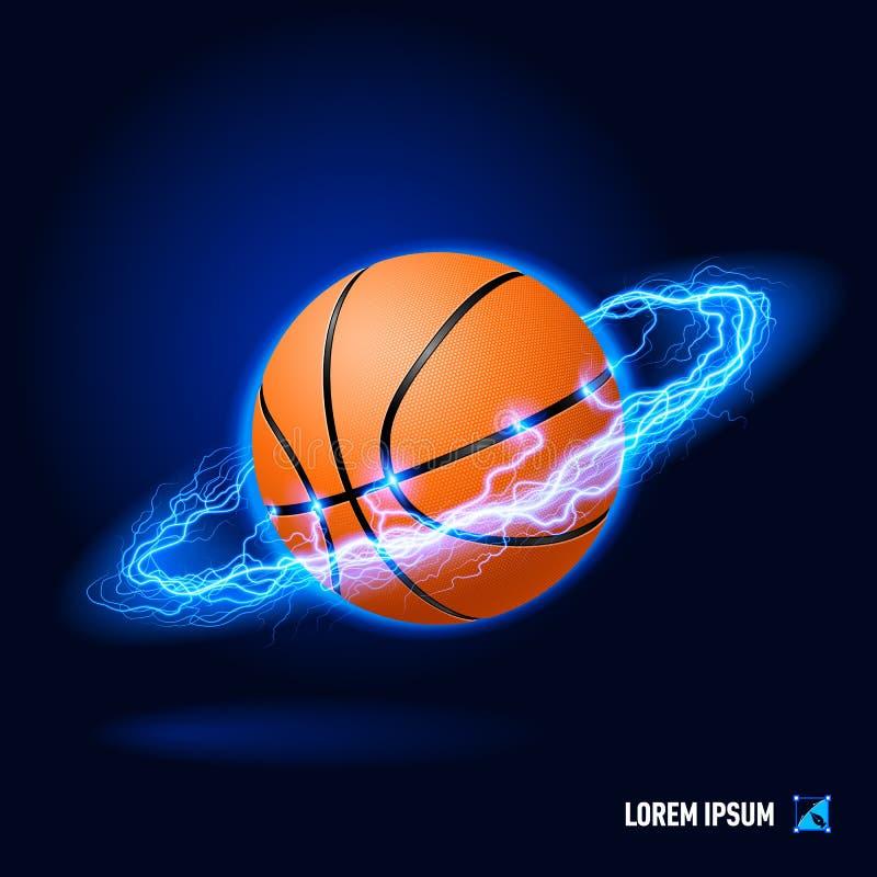 Alta tensão do basquetebol ilustração royalty free