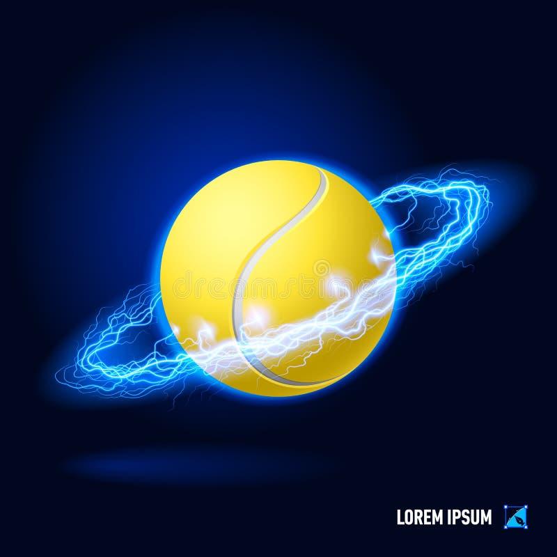 Alta tensão do tênis ilustração stock