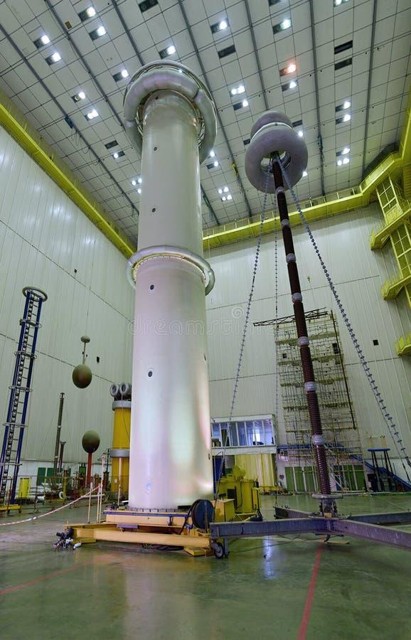 Alta Tesla torre de la bobina de Incredibile imagen de archivo libre de regalías