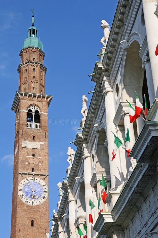 Alta torretta del palladiana della basilica immagine stock