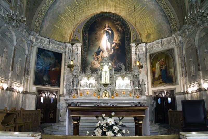 Altaar en achterscène van Kerk royalty-vrije illustratie