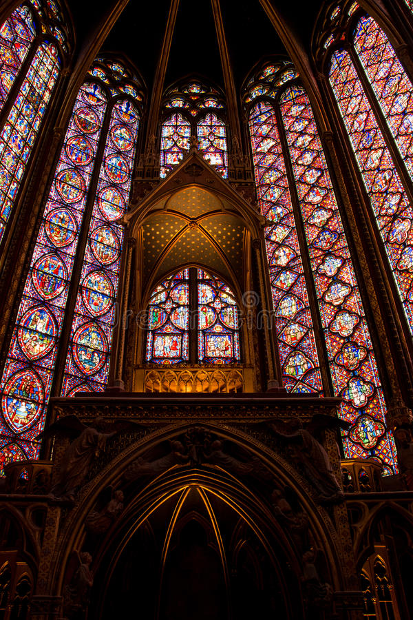 Altaar sainte-Chapelle stock foto