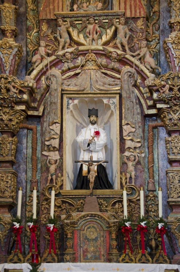 Altaar in San Xavier del Bac Mission royalty-vrije stock afbeeldingen