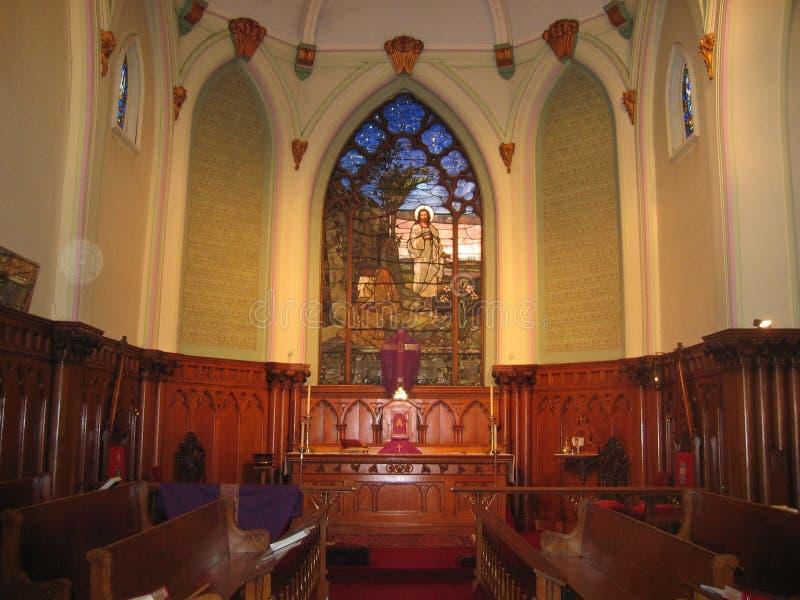 Altaar, St. Paul Kerk, Chillicothe, Ohio stock foto's