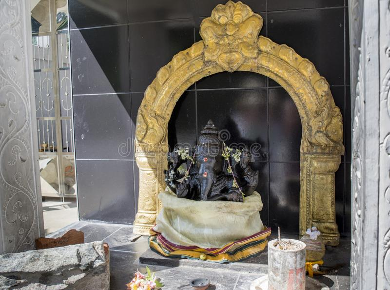 Altaar van de Indische olifantsgod Ganesh royalty-vrije stock fotografie