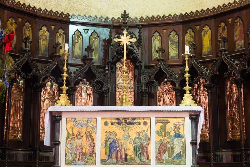 Altaar van de Kerk Anglicaanse kathedraal van Christus, Steenstad, Zanzibar royalty-vrije stock foto