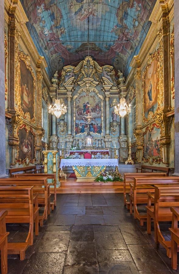 Altaar van de Onze Dame van de Bergkerk royalty-vrije stock afbeelding