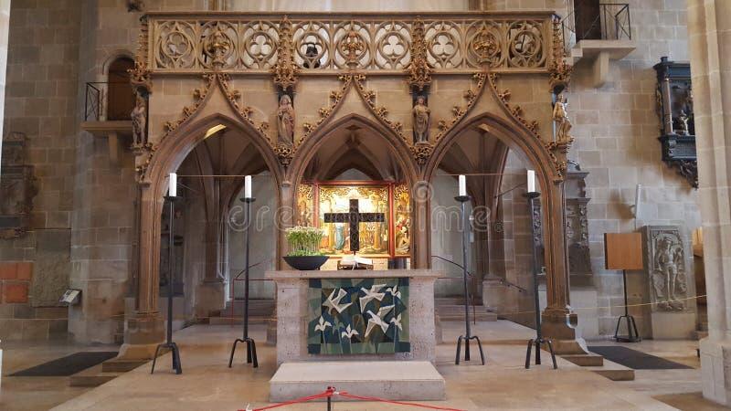 Altaar van ev Stiftskirche - Tübingen royalty-vrije stock fotografie