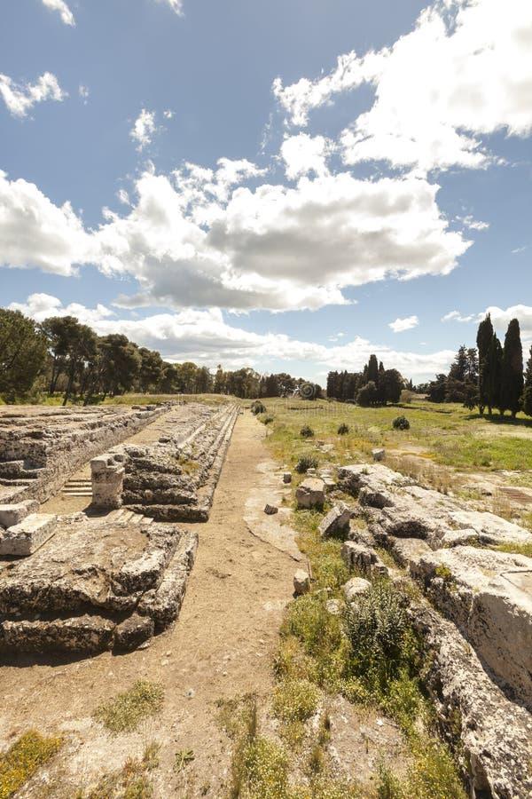 Altaar van Ierone II Syracuse, Sicilië Italië royalty-vrije stock foto's