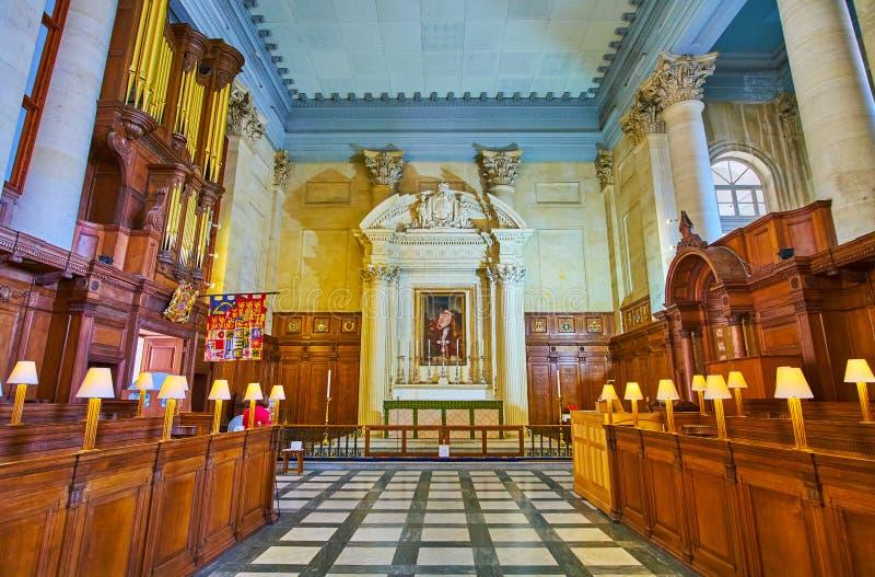 Altaar van St Paul Pro-Cathedral in Valletta, Malta royalty-vrije stock foto