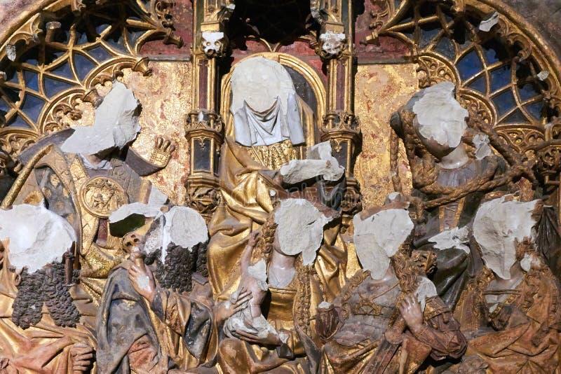 Altaarstuk in Dom Church Utrecht The Netherlands stock fotografie