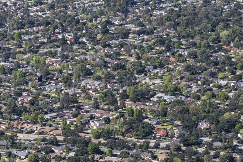 Altadena California Aerial royalty free stock photo