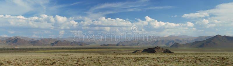 Altai山。 美好的高地横向 库存图片