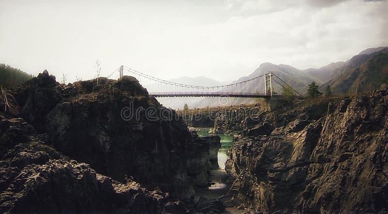 Altai的Katun河 免版税库存照片