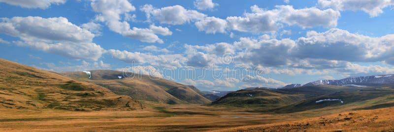 altai美丽的高地横向山 库存照片