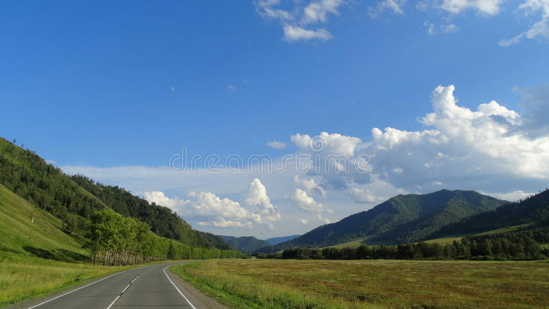 Altai. Beauty Chui tract. stock photography