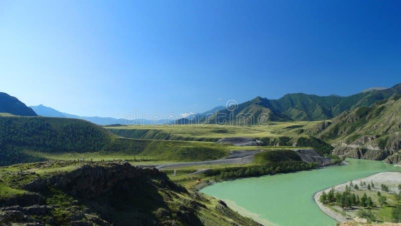 Download Altai Chui-Oozy L photo stock. Image du herbe, horizontal - 76080786