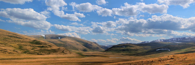 Altai mountains. Beautiful highland landscape stock photo