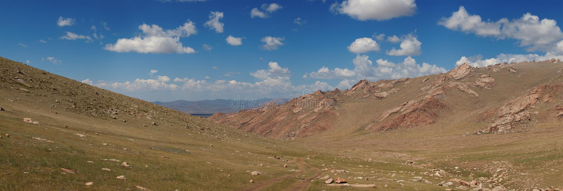 Altai mountains. Beautiful highland landscape royalty free stock image