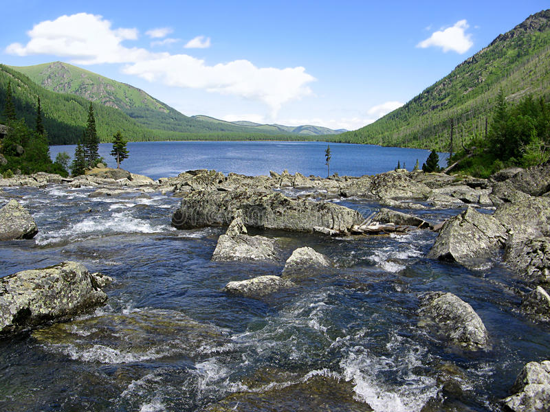 Download Altai Mountains. River Shumy And Lake Multinskoye Stock Photo - Image: 25213206